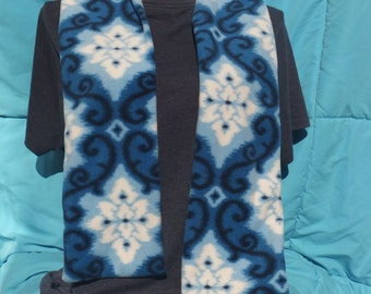 Fleece Winter Snowflake Blue White Scarf Recently Reduced!