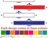 20 Classic banners, colourful designs. INSTANT DOWNLOAD for Personal and commercial use.