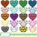 20 Hearts in Hearts clip art set, colourful designs. INSTANT DOWNLOAD for Personal and commercial use.