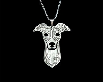 Italian Greyhound - sterling silver pendant and necklace