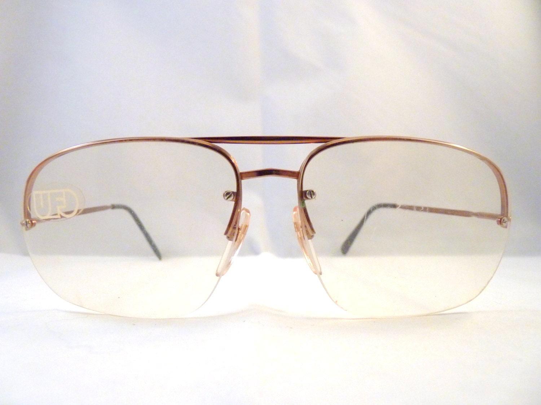 safilo aviator eyeglasses made in italy in the 1980s half