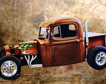 Rat Rod - Hot Rod Photo - Classic Car Art - Rat Rod with Semi Cab - Classic Car Photo - Gift Idea for Men - Gifts for Guys