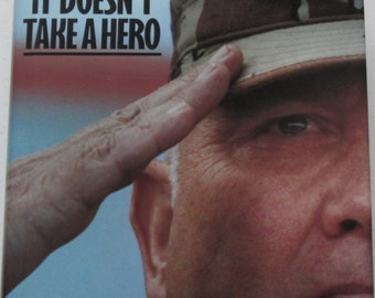 General Norman Schwarzkopf, It Doesn't Take A Hero, Autobiography First Edition