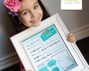 DADDY // ALL ABOUT - Fathers Day - Fill In, Printable // Instant Download