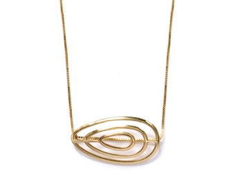 Gold jewelry, uniqe gold necklace
