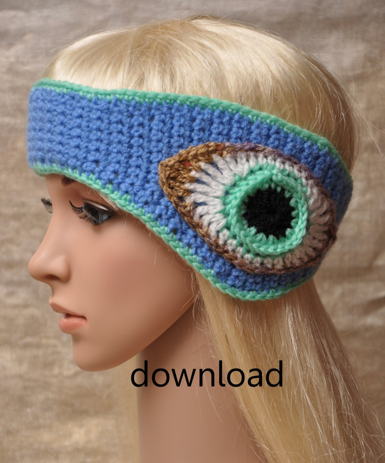Crochet Patterns Headband Ear Warmer : Headband Ear Warmers Crochet Pattern . by CatherinesCornerShop