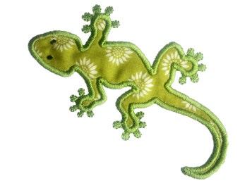 Lizard Gecko Reptile Applique. INSTANT DOWNLOAD Machine Embroidery Design Digitized File