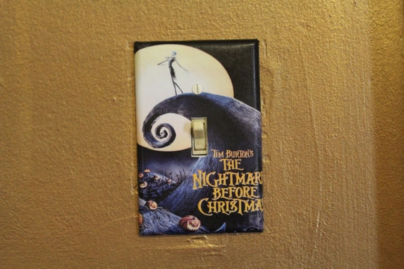 Nightmare before christmas light switch cover plate
