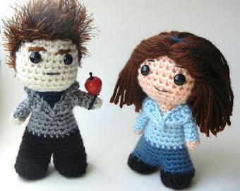 Twilight Bella and Edward Amigurumi Dolls Crochet Pattern
