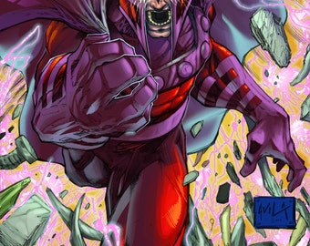 Enter Magneto Colored Print