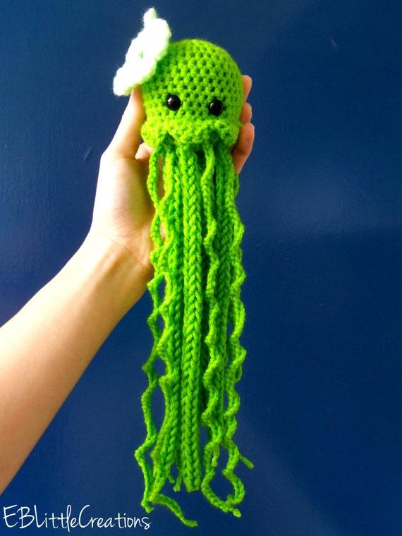Crochet Jellyfish : JellyFish Crocheted Plush by MayleeandAvery on Etsy