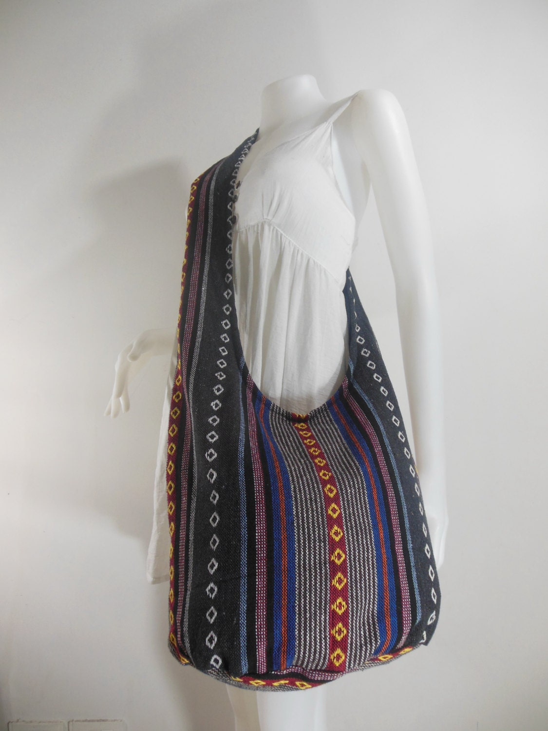 Handbag Hippie Hobo Cross body Messenger Boho Bag Hmong Purse