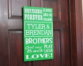 Personalized Brother or Sister Subway Art