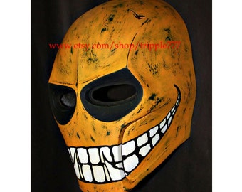 Army of two mask, Airsoft paintball mask, Halloween mask, Halloween costume & Cosplay mask, BB gun Goggle S2 yellow smiley mask MA05 et