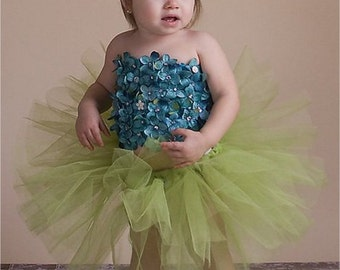 Blossom Tutu Dress | Crochet Tutu Dress | Tulle Fairy Dress | Fairy Photo Shoot | Birthday Shoot Dress | Cake Smash Tutu | Baby Fairy