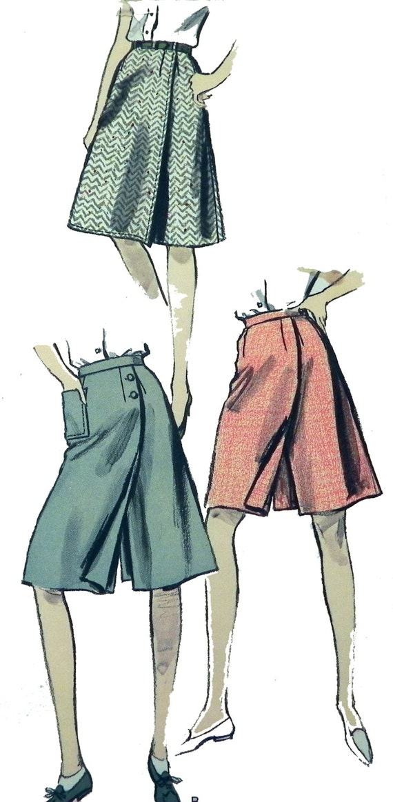 Vogue 6112 1950s Culotte Pattern