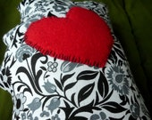 ON SALE! I Love Mississippi Pillow Black White Grey and Red