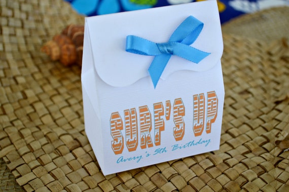 Beach Party Favor Bags with Ribbon: Create Your Own Favor Kit