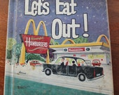 Vintage Childrens Book: Let's Eat Out, by John Jones
