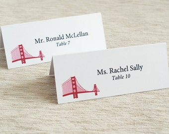 Golden Gate Tent Place Cards Set of 24