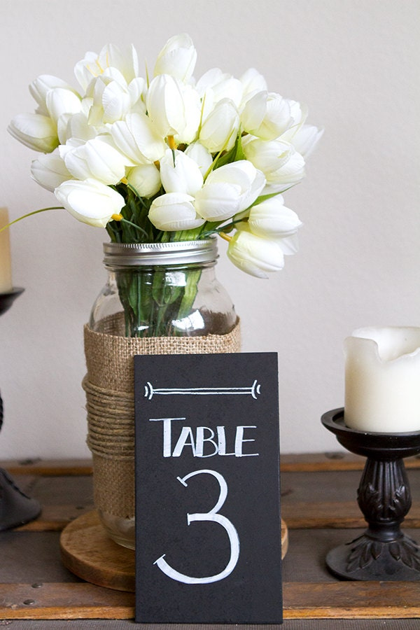 chalkboard table numbers ~ chalkboard table numbers wedding table numbers by