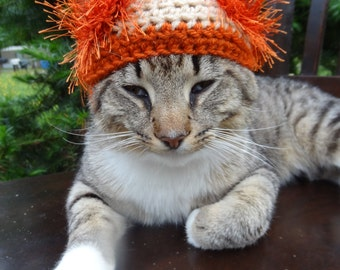 Cat Costume, Cat Hat, Hat for Cats, Hats for Cats, Costume for Cats, Cat Clothes, Cat Clothing - The Lion Wackadoodle Hat for Cats