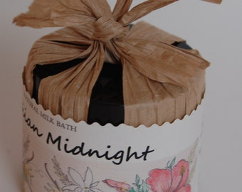 Hawaiian Midnight Natural Milk Bath with essential oils: blood orange, bergamot, ylang ylang, jasmine etc
