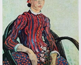 """On sale now! 1952 Vincent van Gogh """"La Mousme"""" 1888 vintage reproduction art print"""