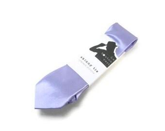 Lilac skinny tie
