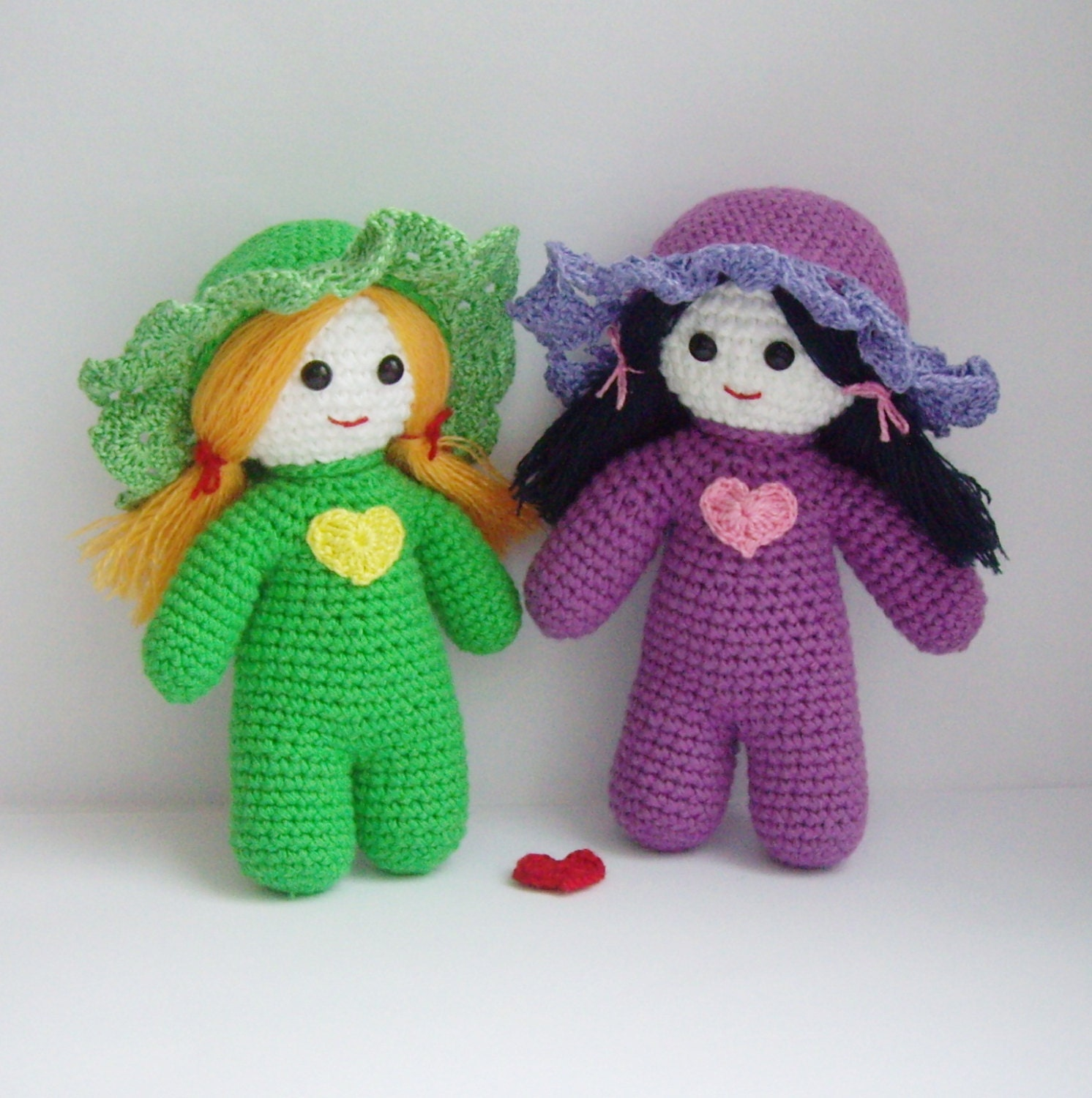 PDF PATTERN amigurumi crochet toy Little girlfriends