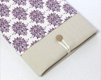 Chromebook, Laptop Case, Laptop Sleeve, purple, pocket, damask, custom size