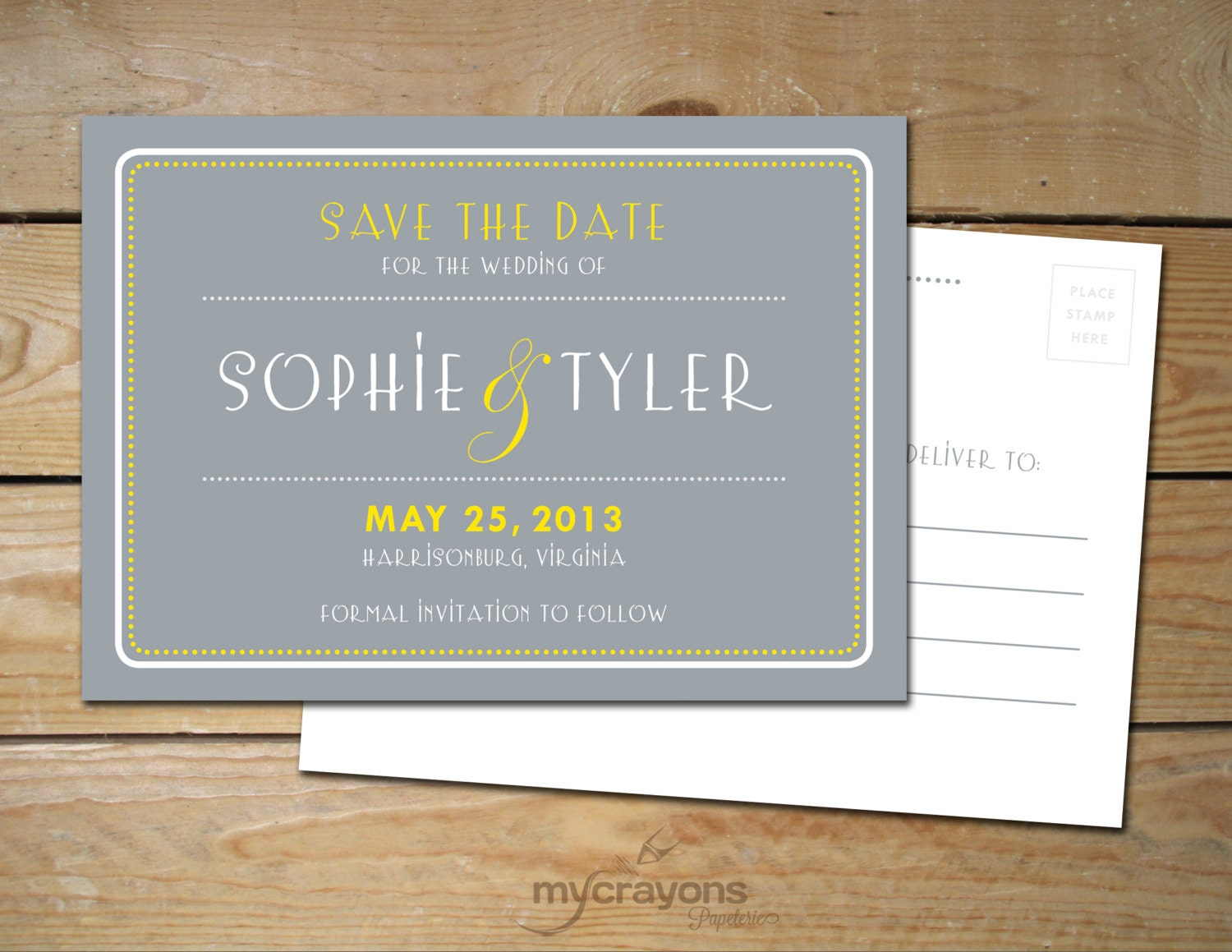 1920s art deco wedding save the date card by mycrayonspapeterie. Black Bedroom Furniture Sets. Home Design Ideas