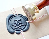 B20 Wax Seal Stamp Pirate Skull Bone