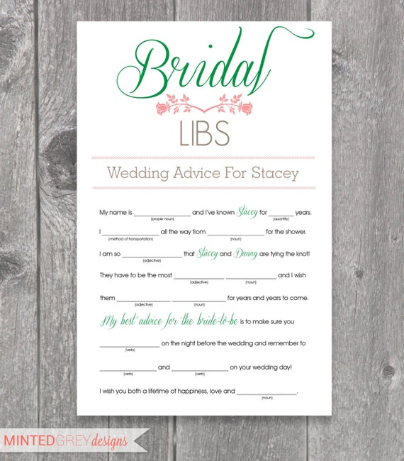 Bewitching image intended for printable wedding mad libs