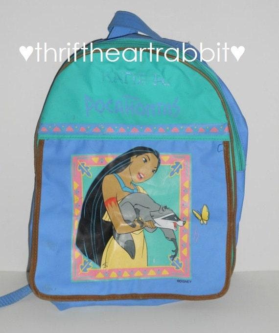 Vintage 90s Disney Pocahontas Backpack Pastel By