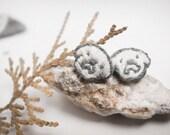 Adorable Doodle Dog Hand-Embroidery Earrings - animal earrings - dog earrings - bulldog