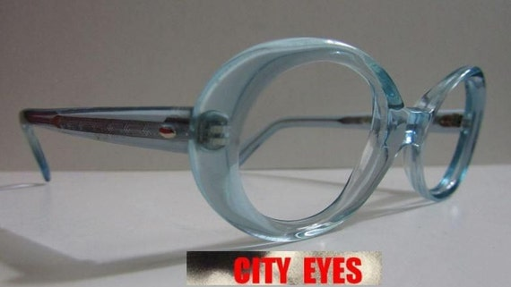 Glasses Frame Hong Kong : 1960s British Hong Kong Blue Oval optical frames eyeglasses