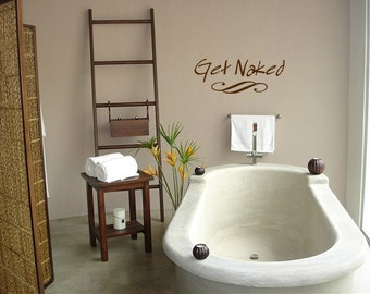Get Naked Decal - Bathroom Get Naked Decal - Get Naked Decal for Bathroom 0013