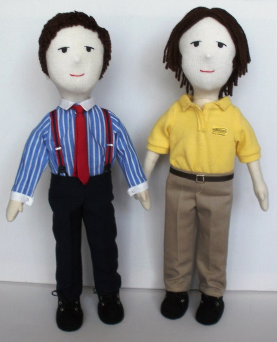 Supernatural Sam & Dean Winchester Cloth Dolls made to order - please contact before purchasing