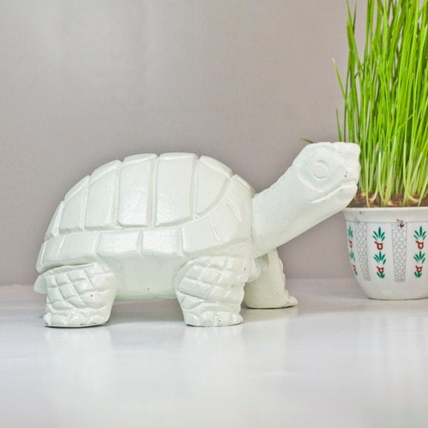 Turtle wood sculpture spring home garden by cozytraditions for Turtle decorations for home