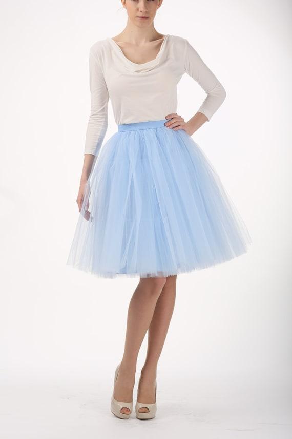 Items similar to Baby blue tutu skirt Handmade tulle skirt High quality skirt petticoat on Etsy