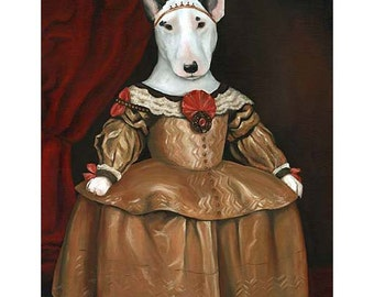English Bull Terrier Prints, Princess Lucy Bull Terrier, Bull Terrier Art