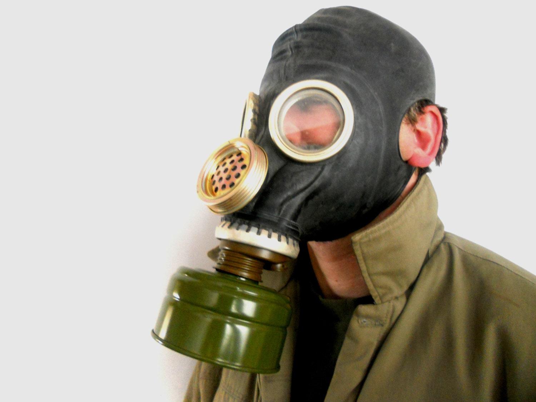 Soviet vintage gas mask PMG 2 GP-5M Ussr era 1987 Soviet