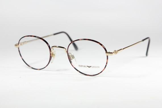 Vintage Armani Glasses Frames : Emporio Armani vintage 80s NOS panto round eyeglasses frame