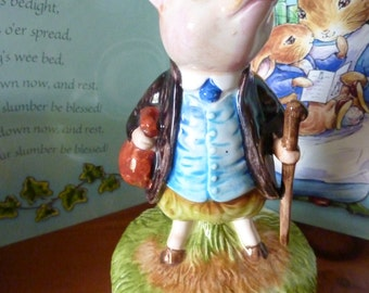Vintage Beatrix Potter Peter Rabbit Schmid Music Box Pigling Bland