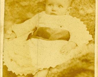 1 Original Antique 1881 Canadian Cabinet Portrait/Studio Photograph of a child