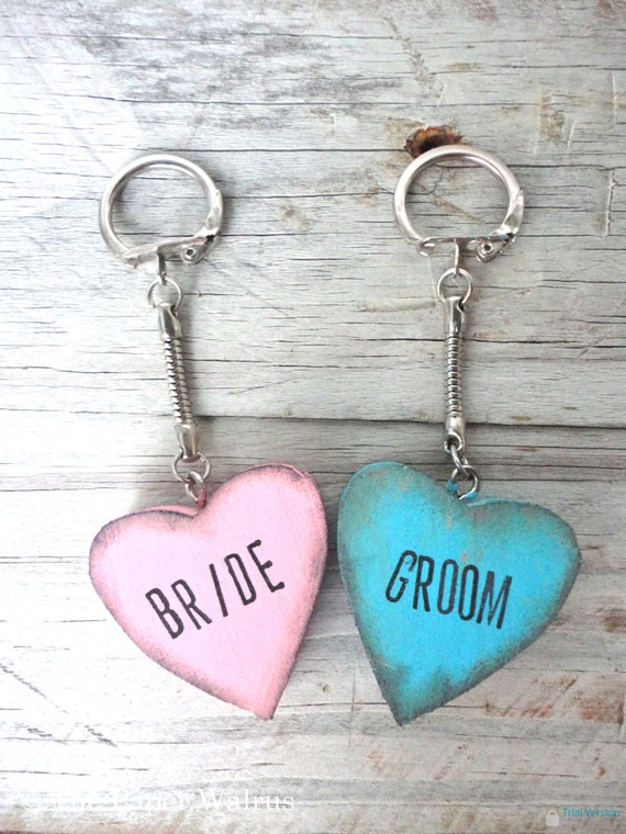Bride and Groom Wedding Luggage Tags