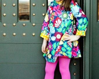 Custom Girls Dress- Hattie- Girls Long Sleeve Dress- Boutique Girls Dress- Size 6-12mo, 12-18mo, 2t, 3t, 4t, 5t- the dottedduck