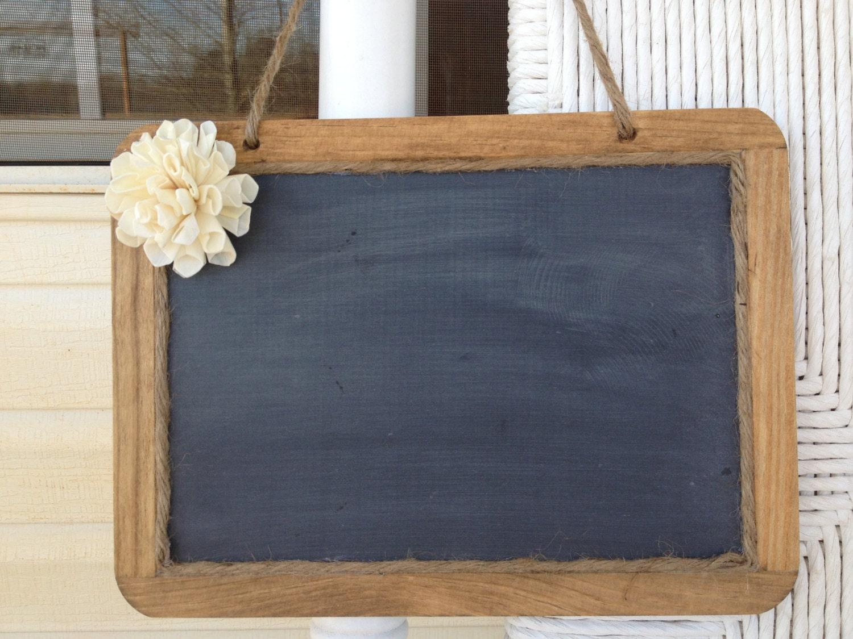 hanging framed shabby chic rustic chalkboard 7x10 size chalkboard chalkboard photo prop rustic wedding