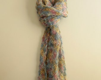 Hand Knit Scarf - Mohair